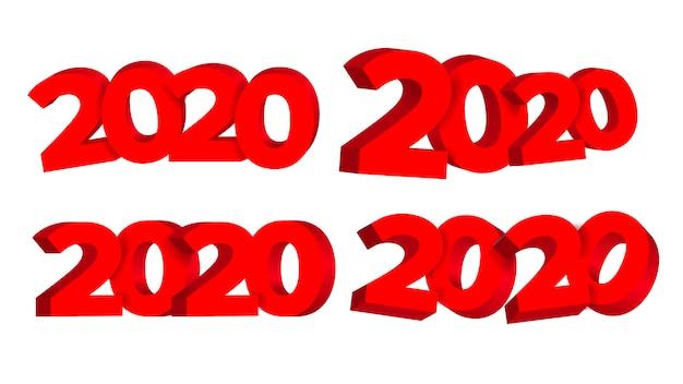 2020 Bonne Année Publicité Vecteur Premium