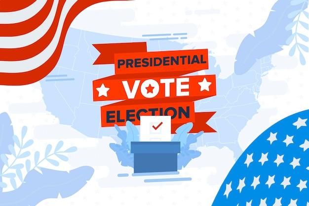 2020 Usa élections Présidentielles Wallpaper Vecteur gratuit