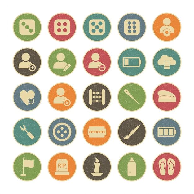 25 icon set universel pour usage personnel et commercial ... Vecteur Premium