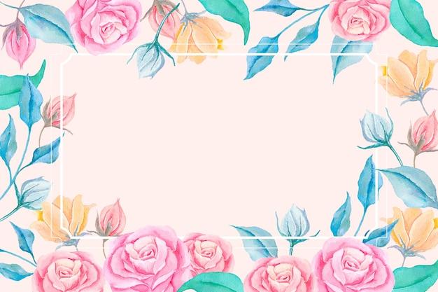 2d Papier Peint Fleurs Vintage Vecteur gratuit