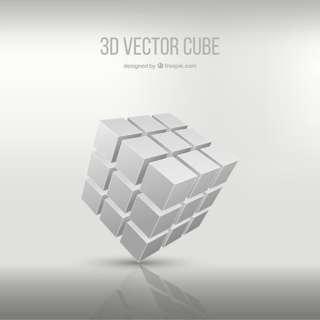3d cube Vecteur gratuit
