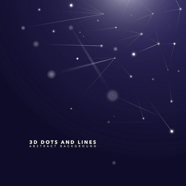 3d dots abstract science background Vecteur gratuit