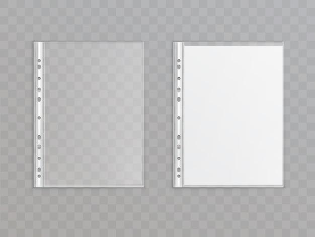 3d poche perforée translucide réaliste isolé sur fond transparent. Vecteur gratuit