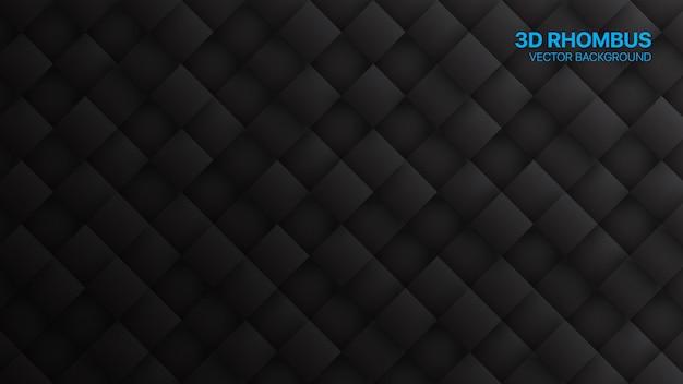 3d Rhombus Minimalist Black Technology Résumé Contexte Vecteur Premium