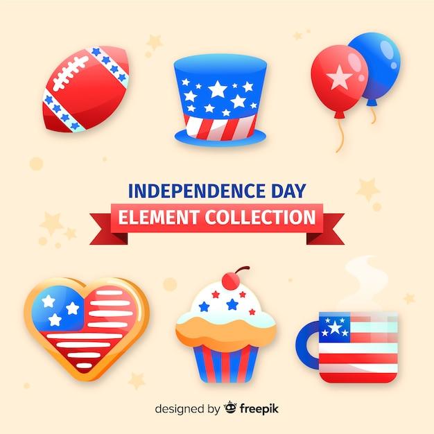 4 Juillet - Collection D'éléments De La Fête De L'indépendance Vecteur gratuit