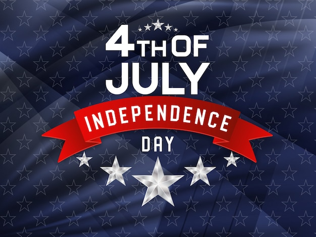 4 juillet, fête de l'indépendance américaine Vecteur Premium