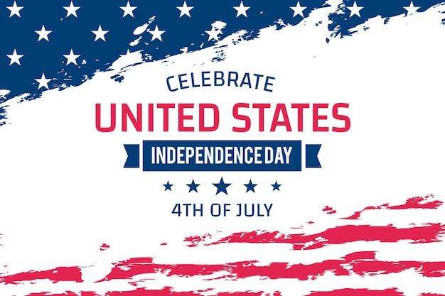 4 Juillet - Fête De L'indépendance En Design Plat Vecteur gratuit