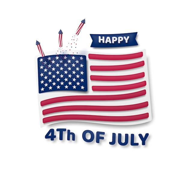 4 Juillet, Fête De L'indépendance, états-unis D'amérique. Vecteur Premium