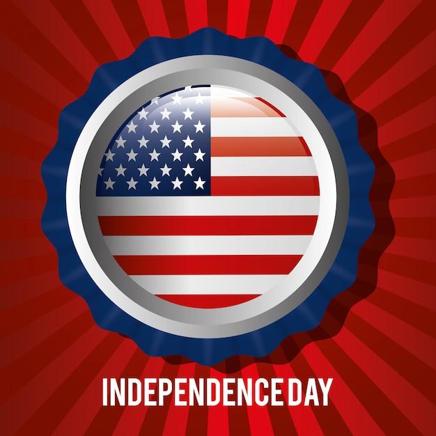 4 Juillet, Fête De L'indépendance Des états-unis Vecteur gratuit