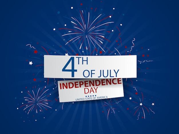 Le 4 juillet, fête de l'indépendance des etats-unis Vecteur Premium