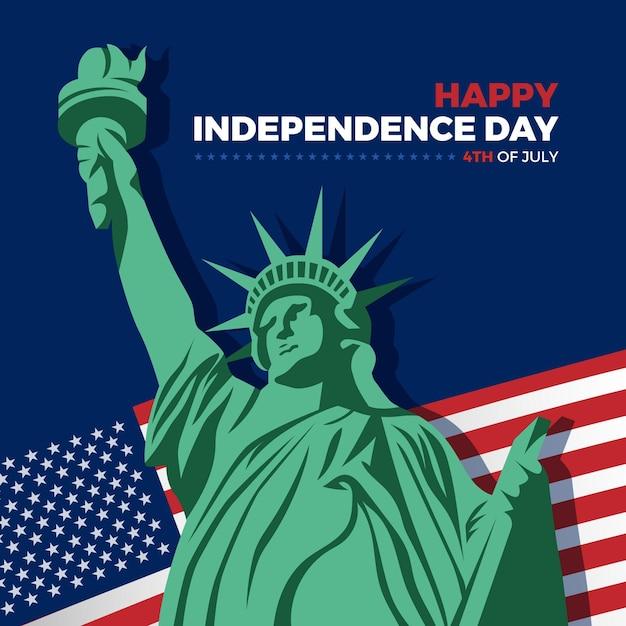 4 Juillet Fête De L'indépendance Vecteur gratuit