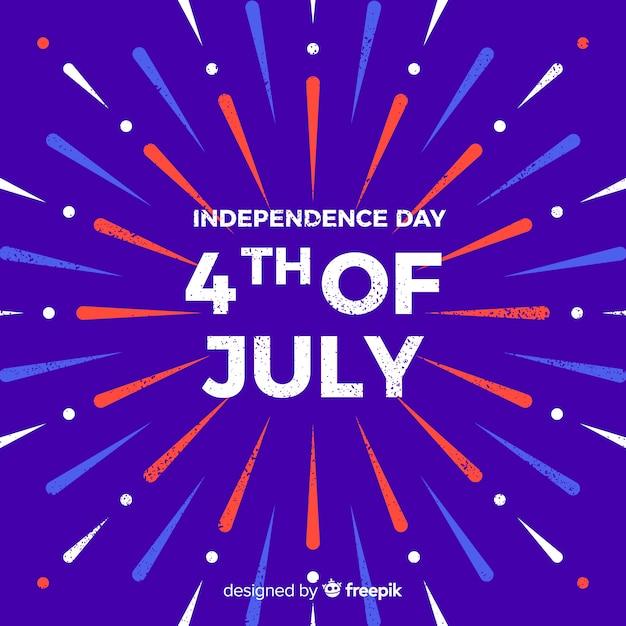 4 juillet - fond de fête de l'indépendance Vecteur gratuit