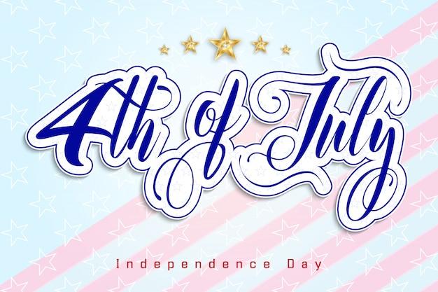 4 Juillet Jour De L'indépendance Des Etats-unis Vecteur Premium