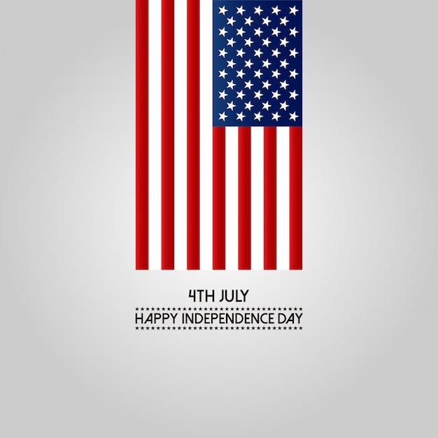 4 juillet joyeux jour de l'indépendance amérique Vecteur gratuit