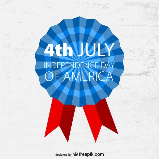 4 juillet modèle insigne de grunge Vecteur gratuit
