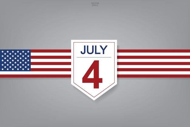4 juillet - signe abstrait et symbole pour les etats-unis. Vecteur Premium