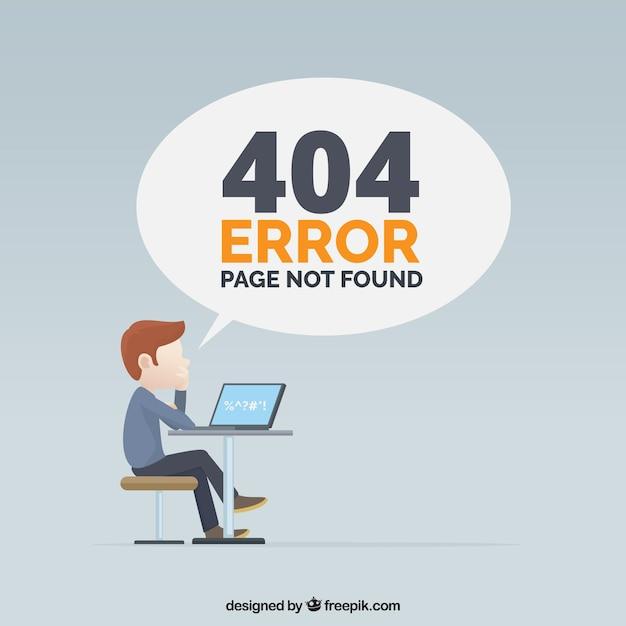404 conception d'erreur avec l'homme Vecteur gratuit