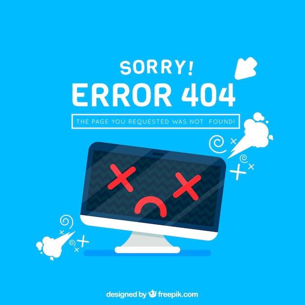 404 conception d'erreur avec moniteur Vecteur gratuit