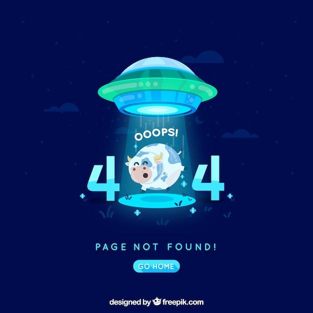 404 erreur fond dans le style plat Vecteur gratuit