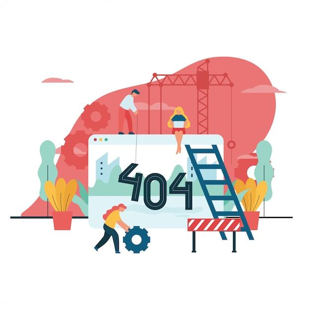 404 erreur illustration vectorielle non disponible Vecteur Premium