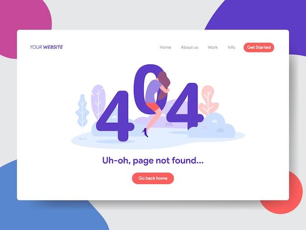 404 page d'erreur introuvable illustration Vecteur Premium