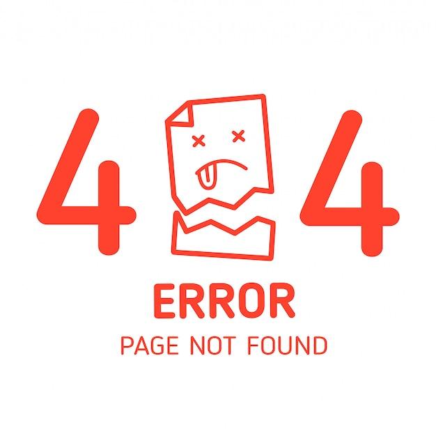 404 Page D'erreur Introuvable Papier Manquant Vecteur Premium