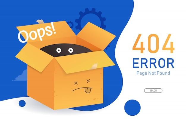 404 Page D'erreur Introuvable Vecteur Avec Modèle De Conception Graphique Pour Site Web Vecteur Premium