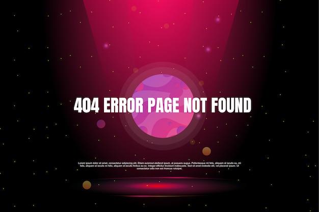 404 page d'erreur non trouvée dans la bannière de galaxie Vecteur Premium