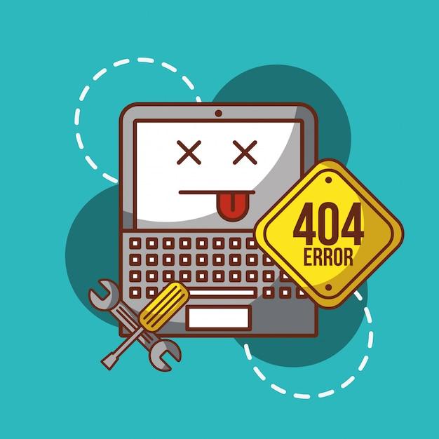 404 page d'erreur non trouvée Vecteur Premium