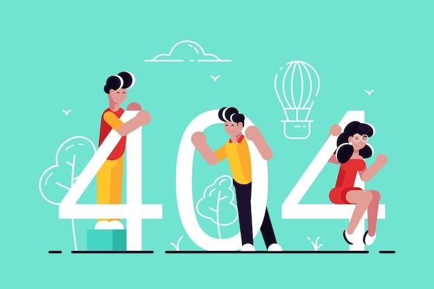 404 Vecteur Premium