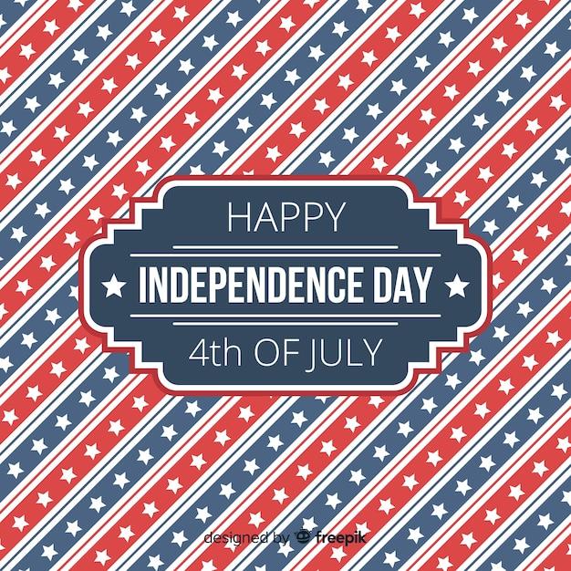 4ème juillet plat - fond de fête de l'indépendance Vecteur gratuit