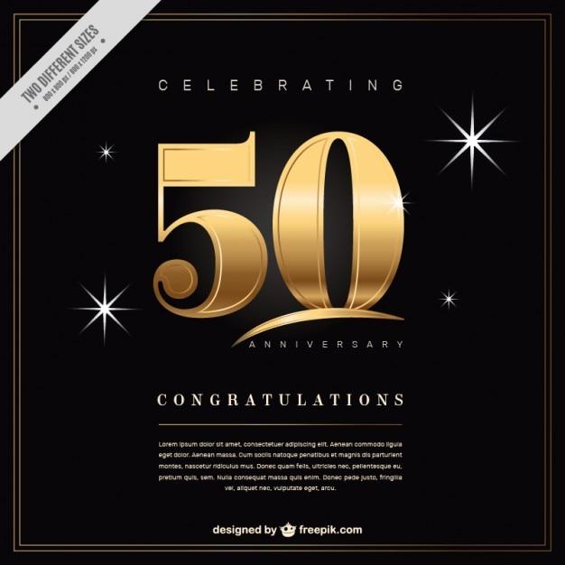 50 Anniversaire De Fond Vecteur gratuit