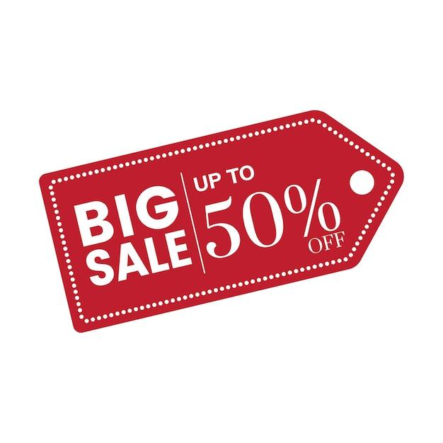 50% de réduction sur le vecteur insigne de vente Vecteur gratuit