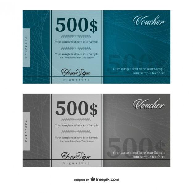 500 dollars de vecteur de modèle de bon de réduction Vecteur gratuit