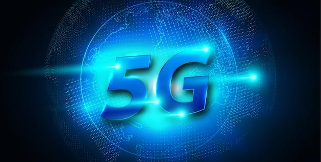 5g nouvelle bannière de connexion wifi internet sans fil Vecteur Premium