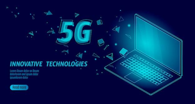 5g Nouvelle Connexion Internet Wifi Sans Fil. Vecteur Premium