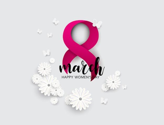 8 mars, bonne fête des mères. Vecteur Premium