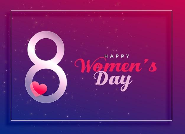 8 mars, célébration internationale de la fête des femmes Vecteur gratuit