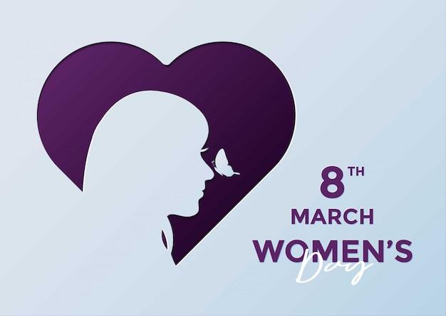 8 Mars Illustration De La Journée De La Femme Vecteur Premium