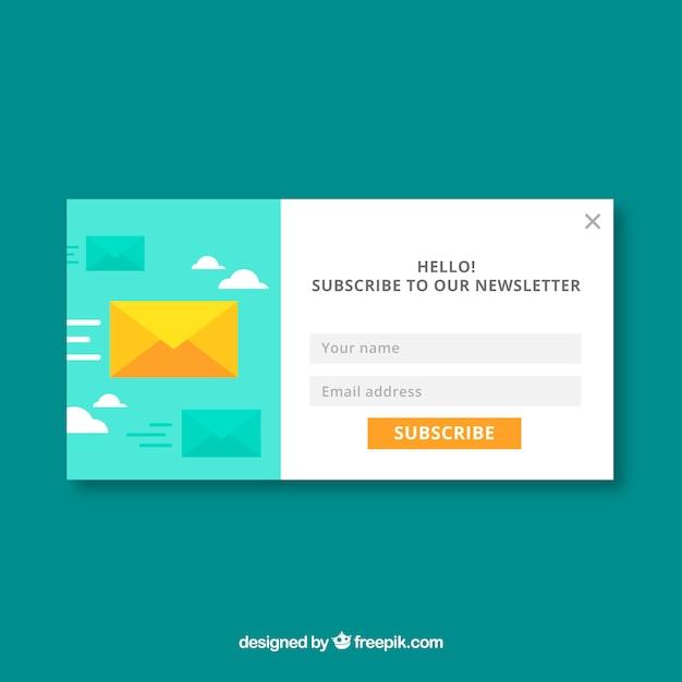 Abonnement moderne pop up avec un design plat Vecteur gratuit