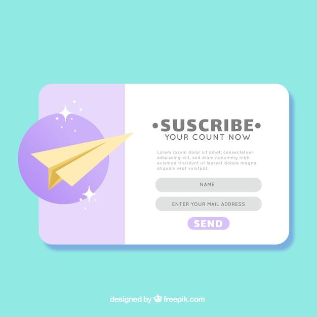 Abonnement pop up avec un design plat Vecteur gratuit
