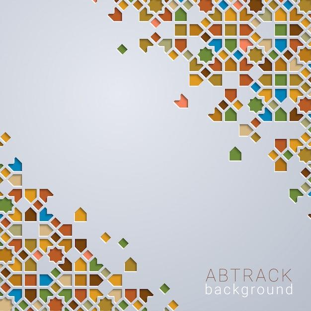 Abstrac Fond Coloré Marocain Géométrique Vecteur Premium