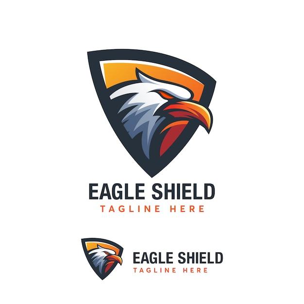 Abstrack Eagle Shield Logo Création De Templat Ilustration Vecteur Premium