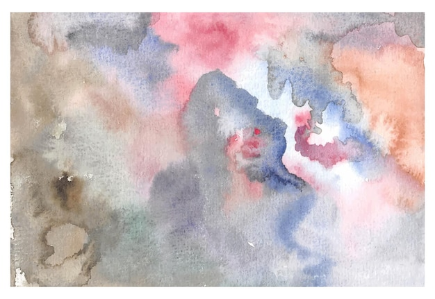 Abstrack Main Peinture Aquarelle Fond Vecteur Premium
