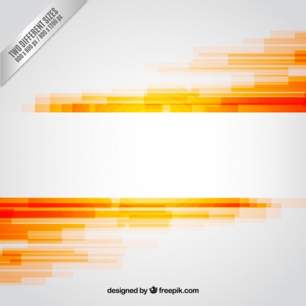 Abstract background dans les tons orange Vecteur gratuit