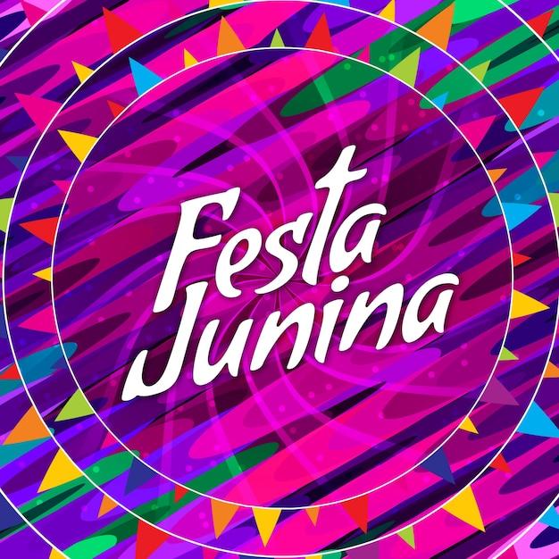 Abstract coloré festa junina fond de célébrités Vecteur gratuit