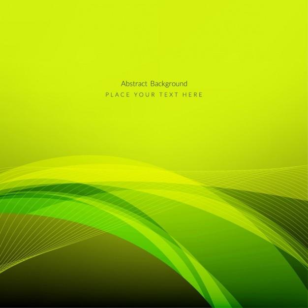 Abstract Design élégant De Fond De Vague Verte Vecteur gratuit