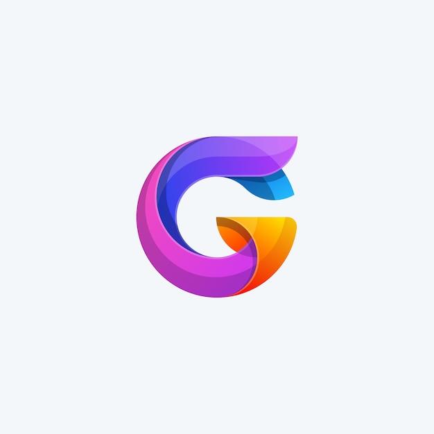 Abstract G Couleur Concept Illustration Vecteur Vecteur Premium
