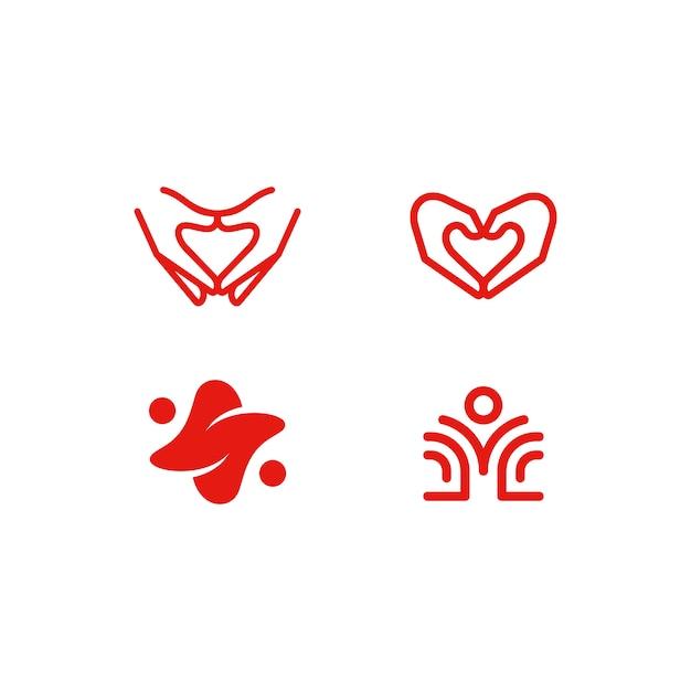 Abstract healthcare marque illustration vectorielle modèle de conception Vecteur Premium