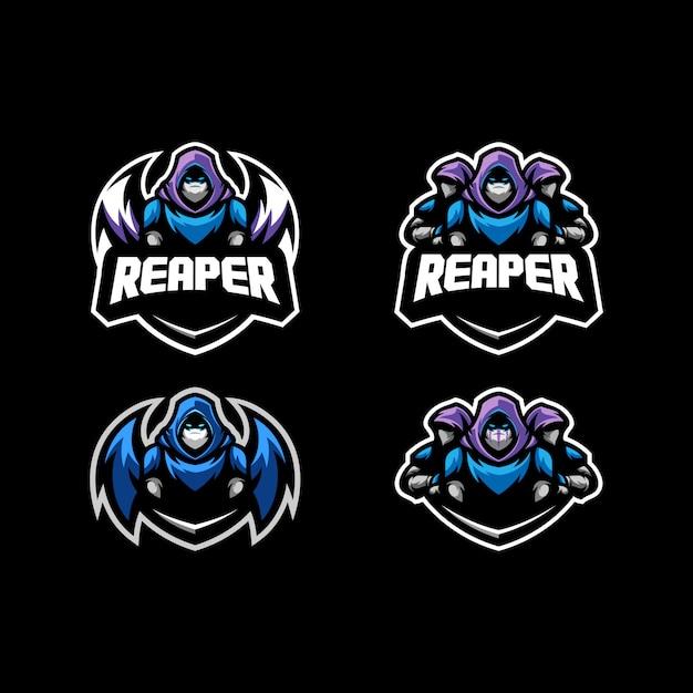 Abstract reaper concept illustration vecteur modèle de conception Vecteur Premium
